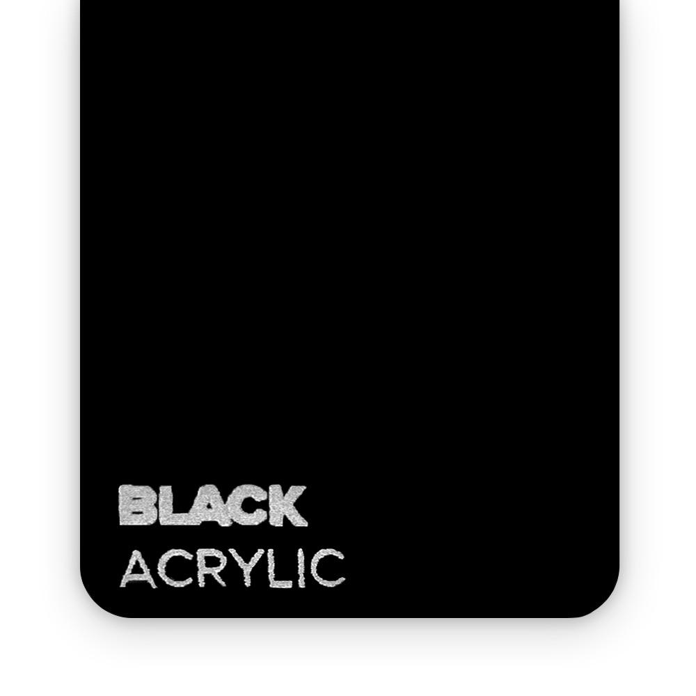 Akril Crni 3mm